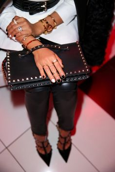 @Valentino #Rockstud clutch & pumps via @Nordstrom