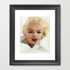Marilyn Monroe. Framed Art Print by David - $45.00