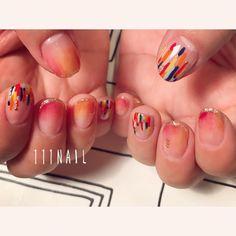 ◽️▫️ #nail#art#nailart#ネイル#ネイルアート #nuance#cute#colorful#autumn#ショートネイル##nailsalon#ネイルサロン#表参道#nuance111 #autumn111