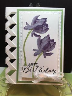 Braided Birthday by - Cards and Paper Crafts at Splitcoaststampers Birthday Cards For Women, Handmade Birthday Cards, Greeting Cards Handmade, Happy Birthday Cards, Unique Birthday Cards, Birthday Ideas, Unique Cards, Creative Cards, Paper Cards