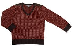 "Product review for Pompomme Boy's Orange & Brown Textured V-Neck Jersey Knit Sweater.  Pompomme Boy's Textured V-Neck Jersey Knit Sweater, with velvet shoulder pads. The sweater also features dark brown cuffs & stitching around the neck to create contrast and style.   	 		 			 				 					Famous Words of Inspiration...""I must study politics and war that my sons may..."