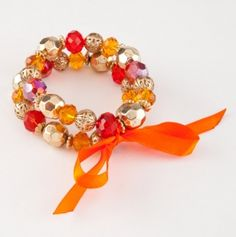 Fire and Ice Beaded Bracelet