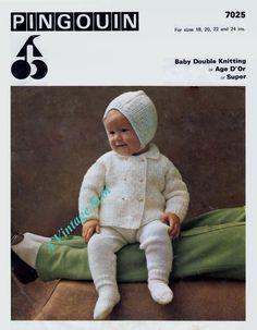 Super Jacket.  ON SALE  Baby / Toddler Pram Set in Dk 8ply Light by avintagescot