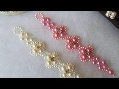 Headband de Pérolas Delicada - Faixa de pérolas - Entrelaçado de pérolas duplo #4 - YouTube