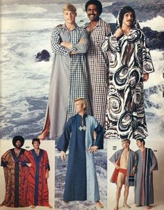 We're Feeling a New Sexy Retro Caftan Moment Coming On… Bad Fashion, 60s And 70s Fashion, Fashion Fail, Retro Fashion, Vintage Fashion, Mens Fashion, Fashion Outfits, Seventies Fashion, Funny Fashion
