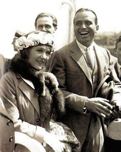 Mary Pickford and Douglas Fairbanks on their honeymoon