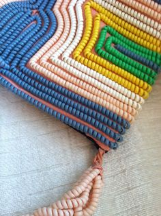 Pastel Vintage Telephone Cord Purse