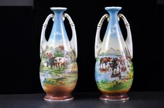 Beautiful Pr. Catle Vases Made in Austria by SouthernSisAntiques
