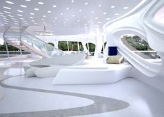 Interior images of Zaha Hadid's Jazz superyacht for Blohm+Voss