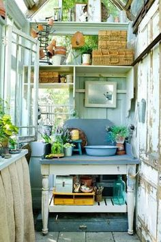Image result for potting shed with pergola