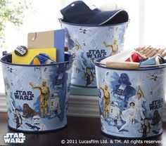 This would make a great trash can for Logan's room