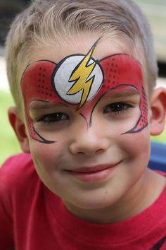 maquiagem infantil the flash