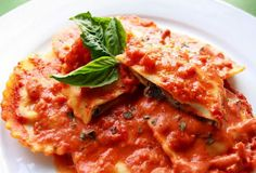 Rich and flavorful, but lower in fat than other raviolis! Healthy Meals Delivered, Mushroom Ravioli, Portobello, Lasagna, Stuffed Mushrooms, Menu, Fat, Ethnic Recipes, Stuff Mushrooms