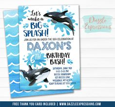 Printable Birthday Party Invitation Card Miami By