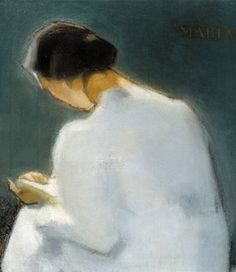 This postcard features Maria by Helene Schjerfbeck as seen in the Helene Schjerfbeck Exhibition. Helene Schjerfbeck is on display at The Royal Academy of Arts from 20 July - 27 October Helene Schjerfbeck, Reading Art, Woman Reading, Edvard Munch, Figure Painting, Painting & Drawing, People Reading, Female Painters, National Gallery