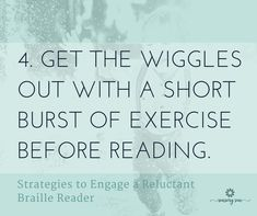 Make reading fun for a braille reader who is struggling to learn. Here are 10 ideas to engage kids by making reading braille a positive experience. Reading Braille, Braille Reader, The Wiggles, New Readers, Positivity, Sun, Activities, Learning, Math Equations