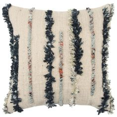 Stripe Decorative Filled Oversize Square Throw Pillow Dark Blue - Rizzy Home : Target Pillow Covers Online, Pillows Online, Mens Gift Sets, Baby Clothes Shops, Eyeshadow Makeup, Accent Pieces, Baby Shop, Throw Pillows, Decor Pillows
