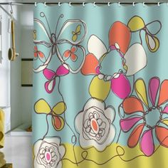 Rachael Taylor - Fun Floral Shower Curtain