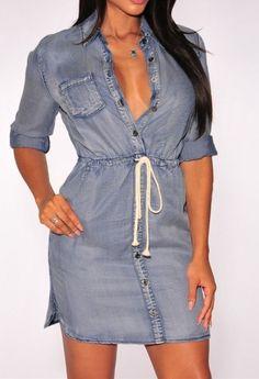 Jeansowa sukienka letnia