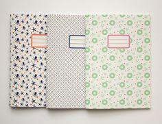 Lot de 3 cahiers Couverture au choix parmi 10 par vertceriseshop