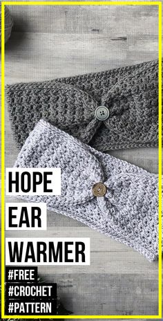 For Beginners Ear Warmers crochet Hope Ear warmer free pattern - easy crochet ear-warmer pattern for beginners Easy Crochet Headbands, Easy Crochet Hat, Learn To Crochet, Free Crochet, Ravelry Crochet, Simple Crochet, Crochet Things, Tunisian Crochet, Crochet Ear Warmer Pattern