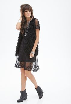 Floral Embroidered Mesh Dress | FOREVER21 - 2000056494
