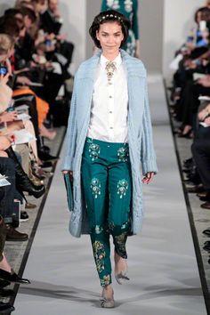Oscar de la Renta Fall 2012, Trend Report - Pants Print.