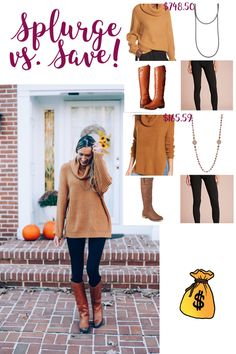 fall outfit, tunic sweater, thanksgiving outfit, tall boots and leggings