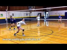 Volleyball Middle Blockers Drill: Transition to slide approach - YouTube