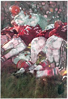 """Bernie Fuchs """"Go for Seven"""" poster illustration for Segram's 7 Crown."""