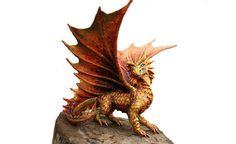 MADE TO ORDER Gold Dragon figurine fantasy door DemiurgusDreams, $2900.00