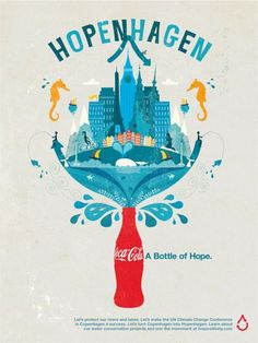 Amazing graphics in this coca cola poster. I like how there's some sort of symmetry in the design.