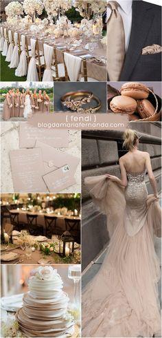 Decoração de Casamento : Paleta de Cores Fendi | Wedding Color Palette Hazelnut / Nude