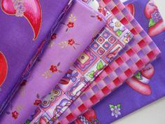 Red Hat Society Fat 1/4's Fabric by sowithlove on Etsy, $12.75