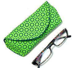 Green Blue Circles Eyeglass Case or Sunglass by nangatesdesigns, $12.00