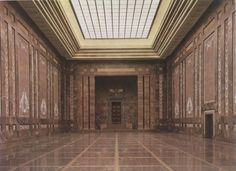 The Mosaic Hall of the new Reich Chancellery, Voßstraße, Berlin, Germany, Designed by Albert Speer. Pin by Paolo Marzioli Neoclassical Architecture, Modern Architecture, Fascist Architecture, Germany Ww2, Berlin Germany, The Third Reich, Beautiful Buildings, Military History, World War Ii
