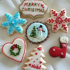 連日の楽しいレッスンで気分上がって自分もクリスマスアイシング(笑) - 36件のもぐもぐ - クリスマスアイシングクッキー by Chez Blanca