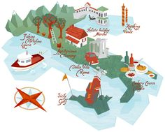 Map illustrations by Kerry Hyndman, via Behance