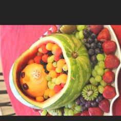 baby fruit tray~ totally doing this for kelsie's baby shower!