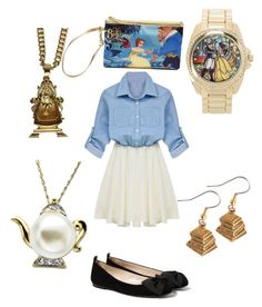 """Beauty and the beast day"" by chersirecatlove ❤ liked on Polyvore featuring MANGO, Torrid and Disney"