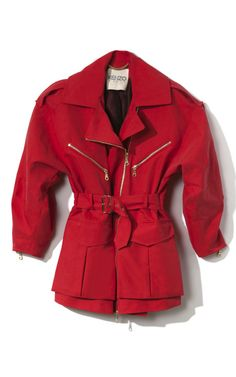 ca4823edac09 Kenzo Peached Twill Coat- Red is the new Black for Fall! Fashion Today