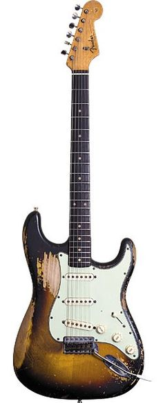 Frusciante's three primary guitars for stage and studio both solo and with Red Hot Chili Peppers are these Fender Stratocasters from '62…