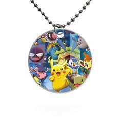 Pokemon Custom Fashion HOT Round dog tag pet tag Necklaces pendant Bead Chain Gift - Pokemon Pet Tags