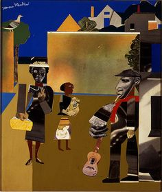 Yesterday we showed you this artwork and asked you to guess the artist. Nearly half of you correctly guessed Romare Bearden. Bearden was born on th. African American Artist, American Artists, African Art, History Images, Art History, History Class, Romare Bearden, Museum Collection, Mixed Media Collage