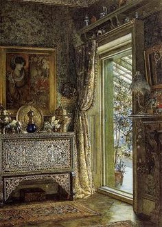 Lawrence Alma-Tadema. Drawing Room, Holland Park 1887.