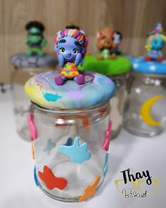 Class Art Projects, Kids Series, Party Centerpieces, 3rd Birthday, Ideas Para, Biscuit, Birthdays, Jar, Nails