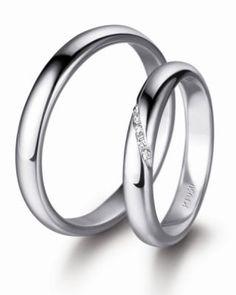 platinum wedding rings, nice little bit of sparkle on the ladies'