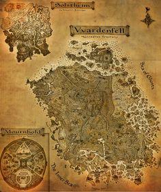 The Elder Scrolls III: Morrowind A3 map by CrashElements.deviantart.com on @deviantART
