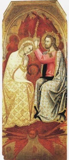 Andrea di Bartolo - Incoronazione della Vergine (tavola centrale di un polittico) -  XV d.C. - tempera e oro su tavola - Pinacoteca di Brera, Milano