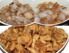 Din categoria preparatelor din carne de porc, jumările sunt cele mai adorate, mai ales servite cu ceapă roșie, cu muștar, sau cu pastă de hrean. Shrimp, Food And Drink, Chicken, Cooking, Home, Pork, Fine Dining, Food Food, Kitchen
